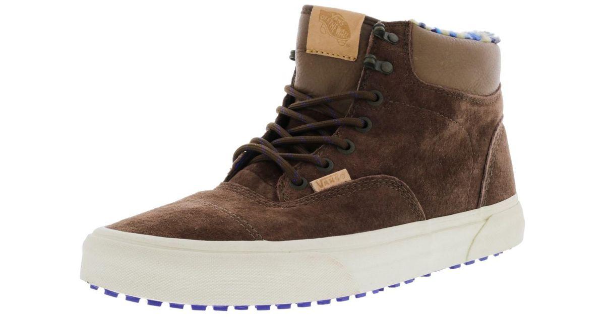 Lyst - Vans Era Hiker Mte Ca Pig Suede   Fleece High-top Snow Sneaker - 11m  in Brown for Men 374876df9