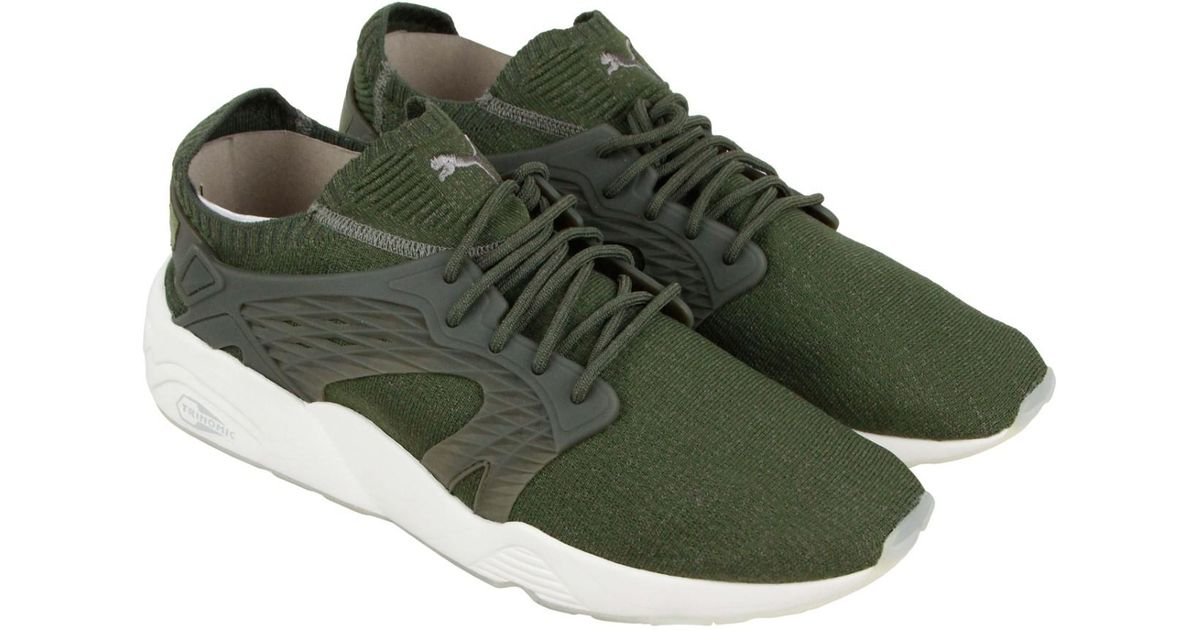 82a2932a3fe2 Lyst - PUMA Blaze Cage Evoknit Olive Night Falconwhite Athletic Training  Shoes in Green for Men