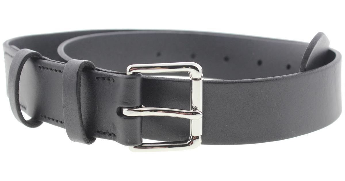 Lyst Polo Ralph Lauren West End Leather Flat Strap Casual Belt In