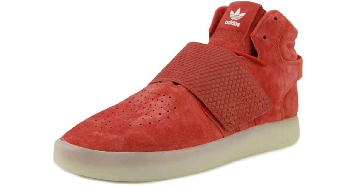 new styles f9f85 a8d53 Adidas - Tubular Invader Strap Red Sneakers for Men - Lyst