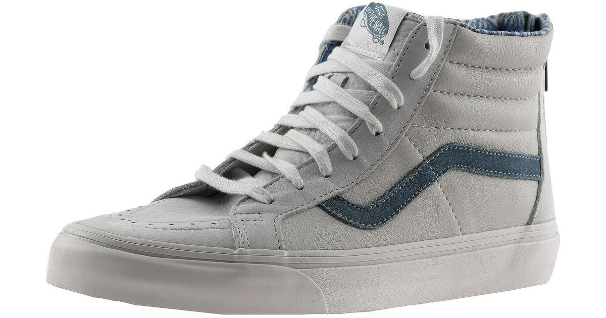 fab48460020a03 Lyst - Vans Sk8-hi Zip Ca Leather And Nubuck Blanc De Ankle-high Fashion  Sneaker - 12m   10.5m in Gray for Men
