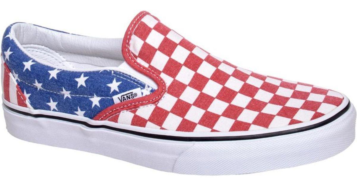 Lyst - Vans Classic Slip-on Van Doren Stars / Stripes Checker Ankle-high  Canvas Skateboarding Shoe for Men