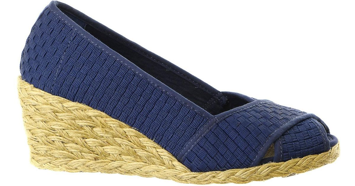 91d3ff81547e Lyst - Lauren by Ralph Lauren Cecilia Ii Espadrille Wedge Sandal Shoe in  Blue