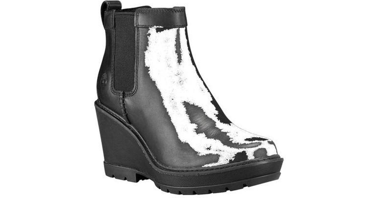 6db2bf77646 Lyst - Timberland Kellis Wedge Chelsea Boot in Black