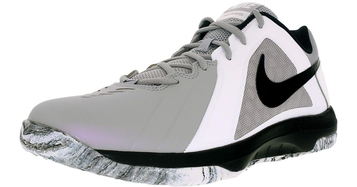 Lyst - Nike Air Mavin Low Wolf Grey black White pure Platinum Ankle-high  Leather Running Shoe in White for Men bb15460e6f