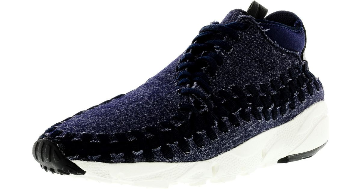new concept e3a6c 5ab1a Lyst - Nike Air Footscape Woven Chukka Ankle-high Fashion Sneaker - 10.5m  in Black for Men