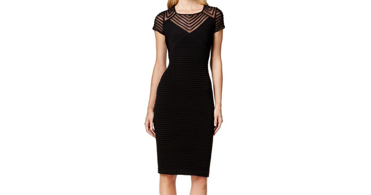 4b85a571188 Calvin Klein Black Size 8 Banded Stretch Bodycon Dress in Black - Lyst