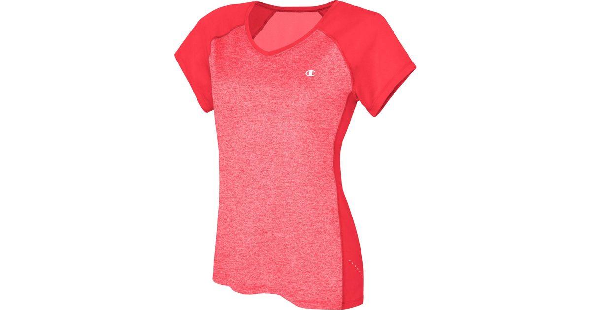 358356f11c63 Lyst - Champion Womens Colorblocked Marathon T-shirt in Pink