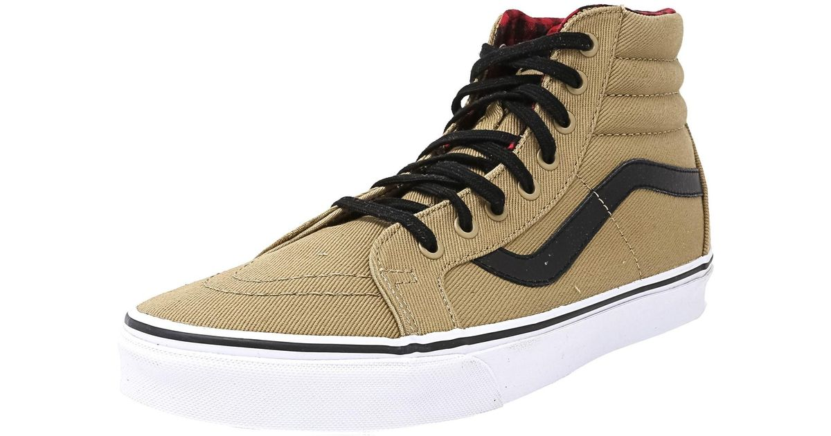 95a4dec859 Lyst - Vans Sk8-hi Reissue Twill And Gingham Cornstalk   Black Mid-top  Canvas Fashion Sneaker in Black for Men