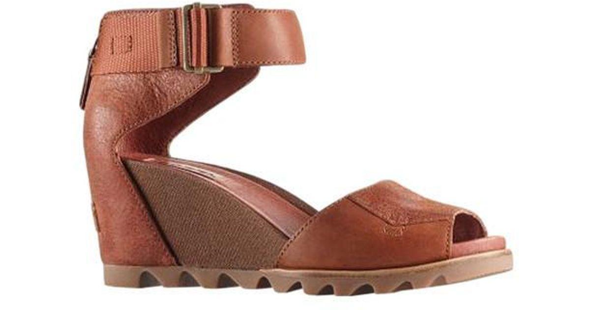 19729f549ca Lyst - Sorel Joanie Wedge Sandal in Brown