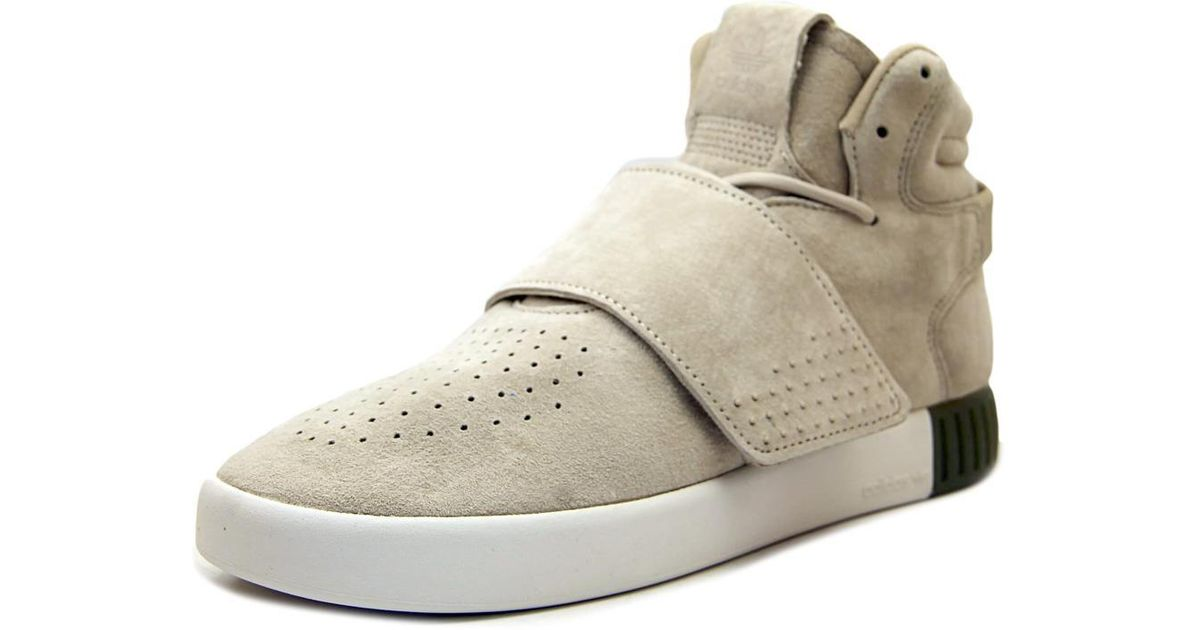 ... where to buy lyst adidas tubular invader strap women us 9 tan sneakers  ccf14 b5ddd a61a3ad6f