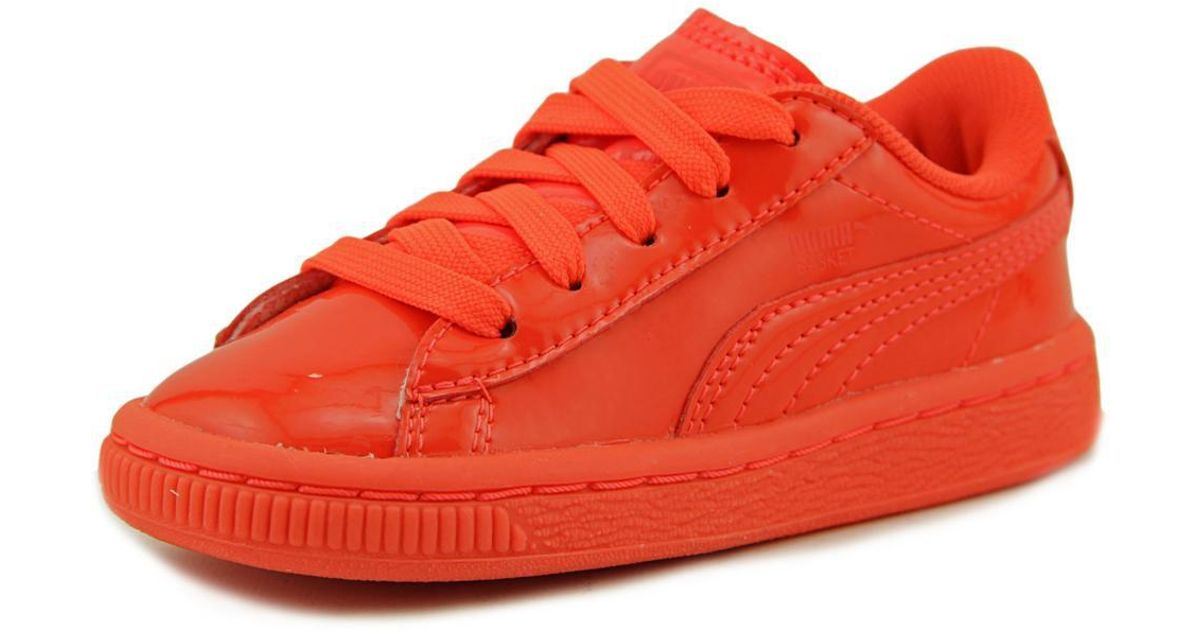 702d024733b Lyst - Puma Basket Classic Patent Toddler Us 6 Orange Sneakers in Red for  Men