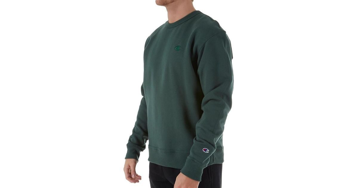 3df573da690d Lyst - Champion S0888 Powerblend Fleece Crewneck Sweatshirt (dark Green M)  in Green for Men