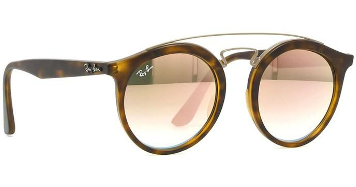 9f175ffdd44 Ray-Ban - Multicolor 0rb4256f 6267b9 52 Matte Havana mirror Gradient Copper  Highstreet Sunglasses - Lyst