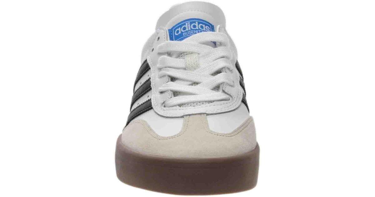 release date 874d4 b72e0 Lyst - adidas Busenitz Vulc Samba Edition Skate Shoes in White for Men