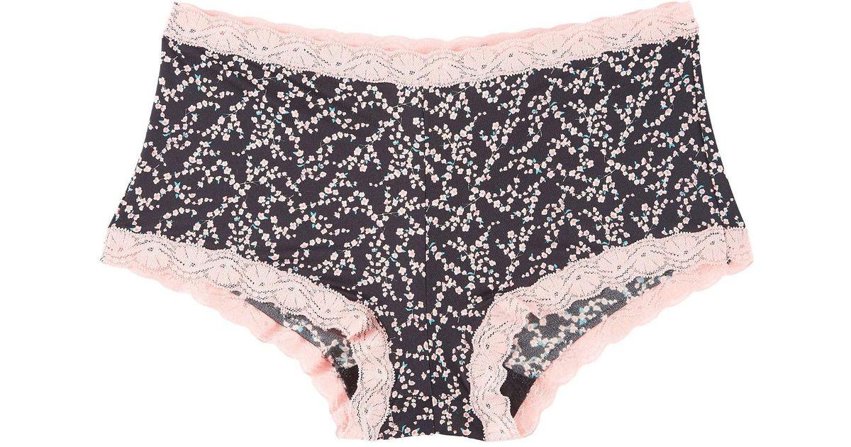 00d624f9ed Lyst - Maidenform Lace Trim Boyshort Panties 40760 in Black