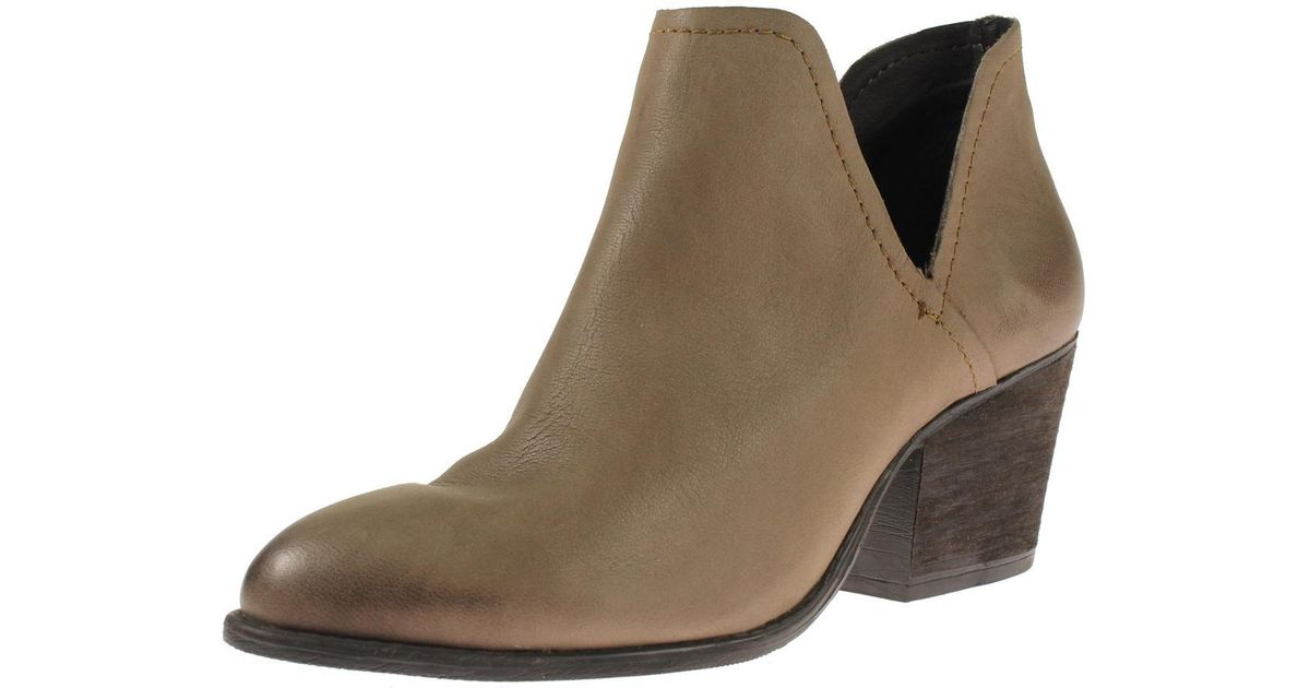857c7fb9061 Lyst - Steve Madden Adelphie Leather Cut-out Booties in Brown