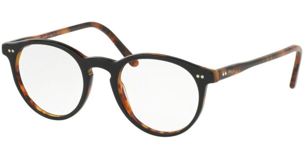 348dc89e089 Lyst - Polo Ralph Lauren Eyeglasses Polo Ph 2083 5260 Top Black havana in  Black