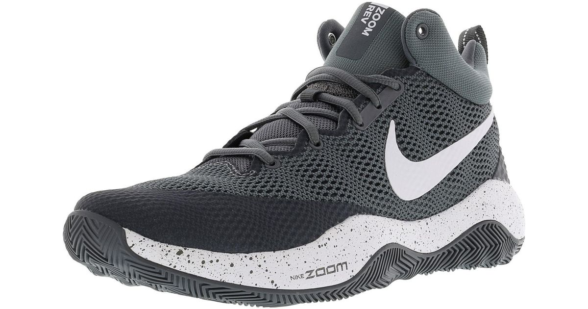 123623cc0c23 Lyst - Nike Zoom Rev Cool Grey   Dark White Ankle-high Basketball Shoe -  8.5m in Gray for Men
