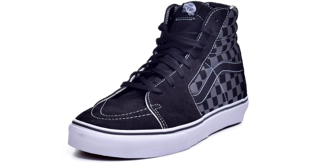 Lyst - Vans Unisex Sk8-hi Black pewter Checkerboard Skate Shoe 10.5 Men Us    12 Women Us in Black for Men 66e637004