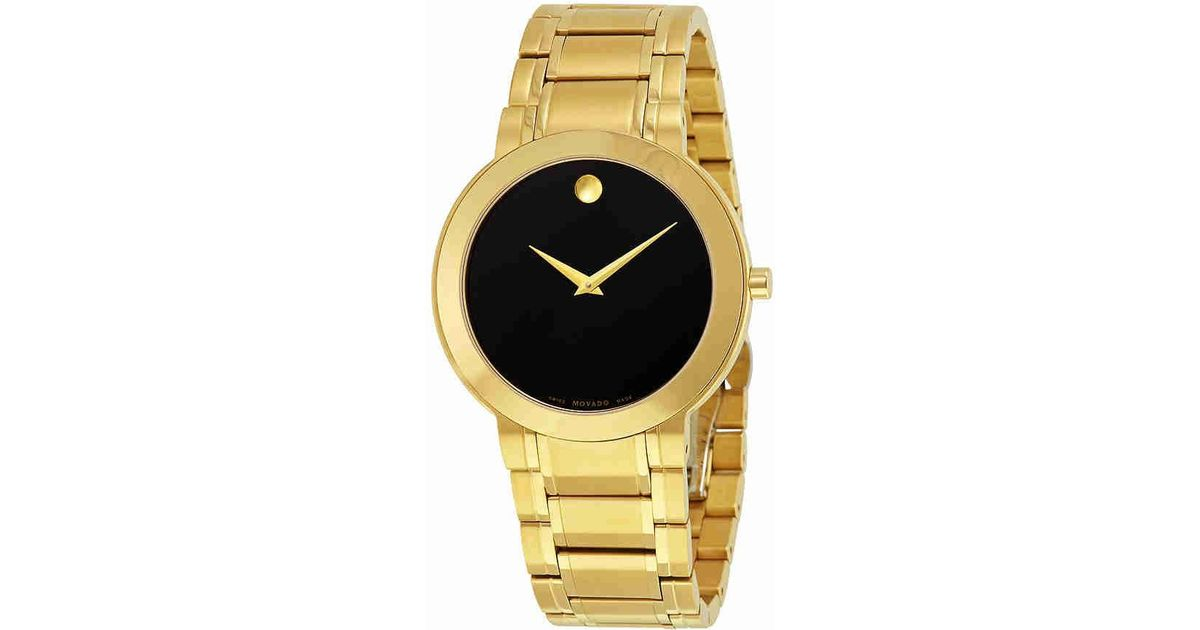 d7e503de616 Lyst - Movado Stiri Black Dial Gold-tone Stainless Steel Watch 0606941 in  Metallic for Men