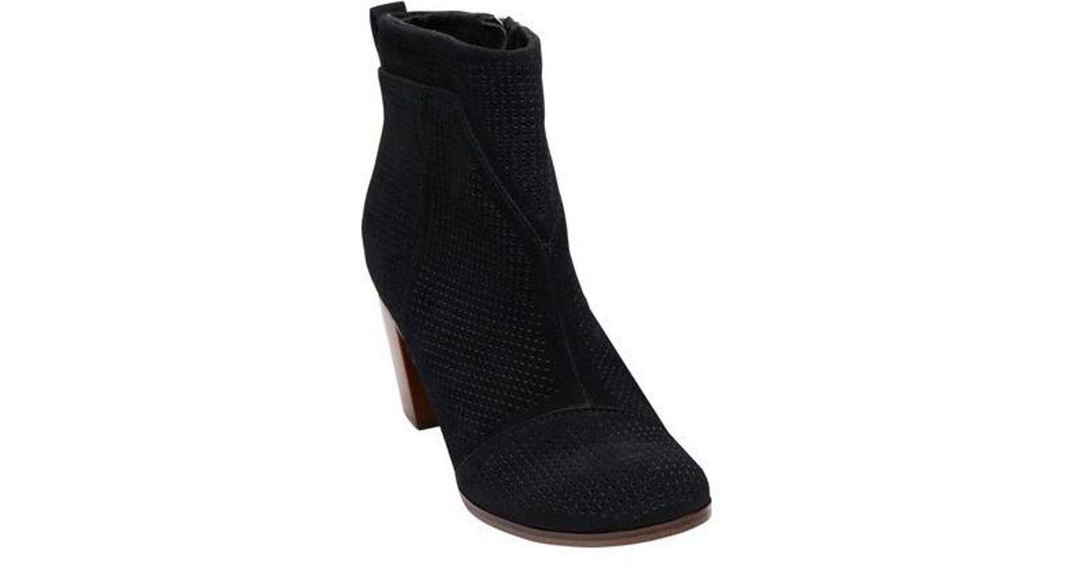 df6082da10e Lyst - TOMS Lunata Suede Ankle Bootie in Black - Save 7%