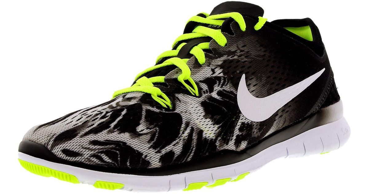 huge discount 25959 ac4b5 Lyst - Nike Free 5.0 Tr Fit 5 Prt Black white volt Ankle-high Cross Trainer  Shoe in Black