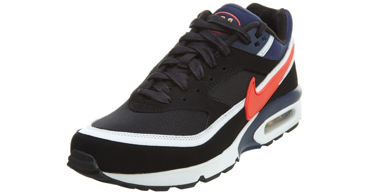 new product 24ed0 dd945 Nike Air Max Bw Premium Black crimson midnight Navy Running Shoe 9.5 Us in  Black for Men - Lyst