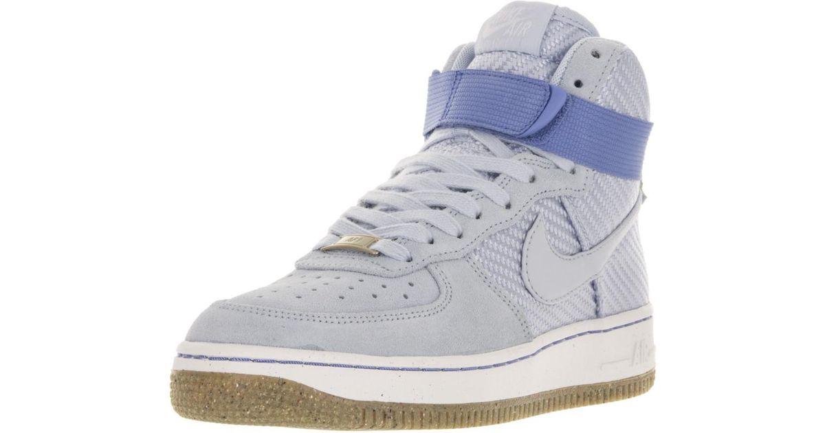 dd0c45738fe7 Lyst - Nike 654440-401  Air Force 1 Hi Prm Porpoise Basketball Shoe ( porpoise porpoise in Blue for Men