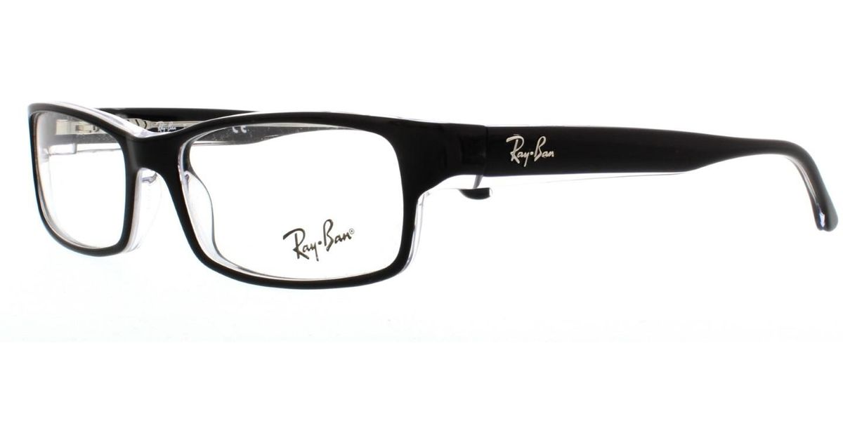 3de631057d Lyst - Ray-Ban Eyeglasses Optical Rx 5114 2034 Top Black On Transparent in  Black