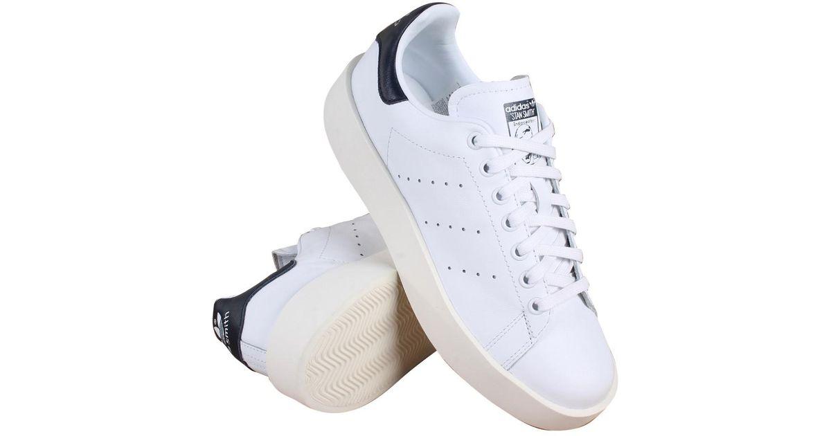 068f9df581 Adidas Originals - Blue Stan Smith Bold Originals Black/white/navy Casual  Shoe 10 Women Us - Lyst