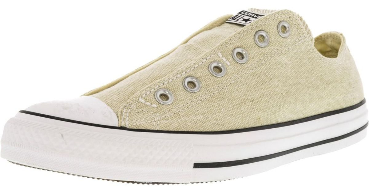 6121601eb37b Lyst - Converse Chuck Taylor Slip Se Nude Sneakers in Natural for Men