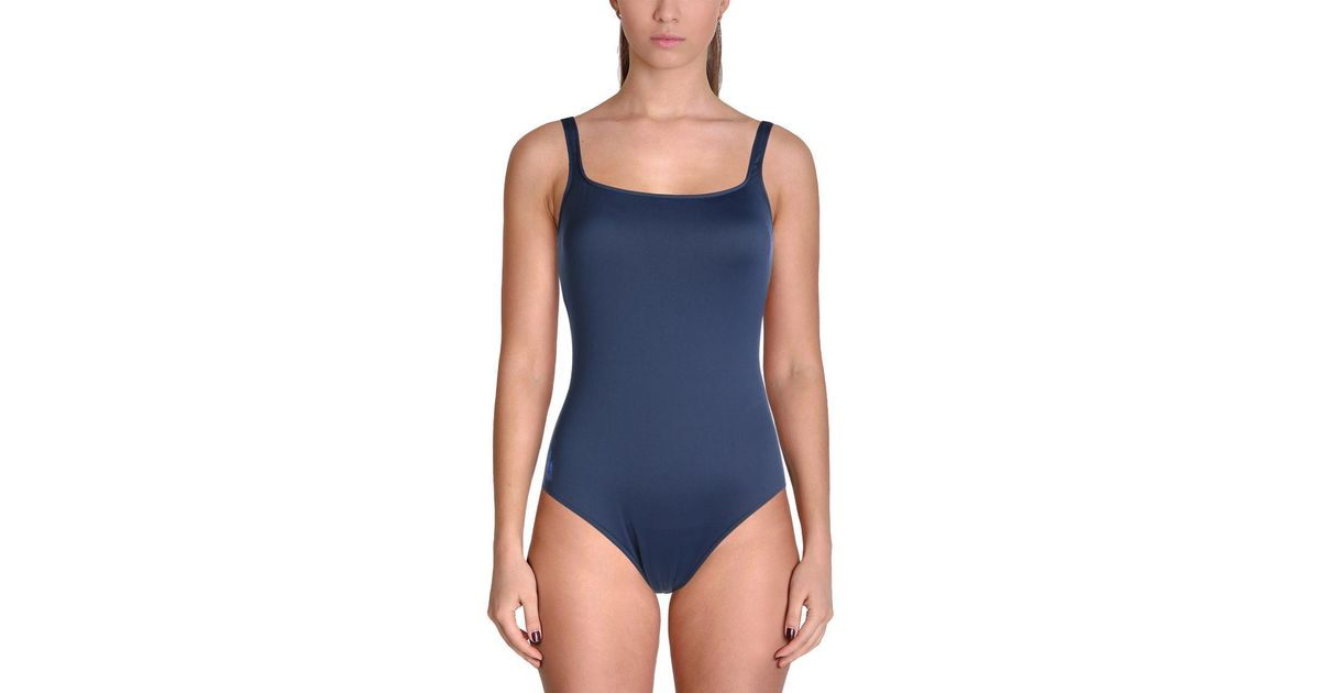 8cfba7249d08c Lyst - Polo Ralph Lauren Tank Nylon One-piece Swimsuit in Blue
