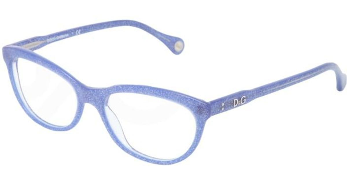340150a68310 Lyst - Dolce   Gabbana Cateye Eyeglass Frames Dd1245blue Glitter in Blue
