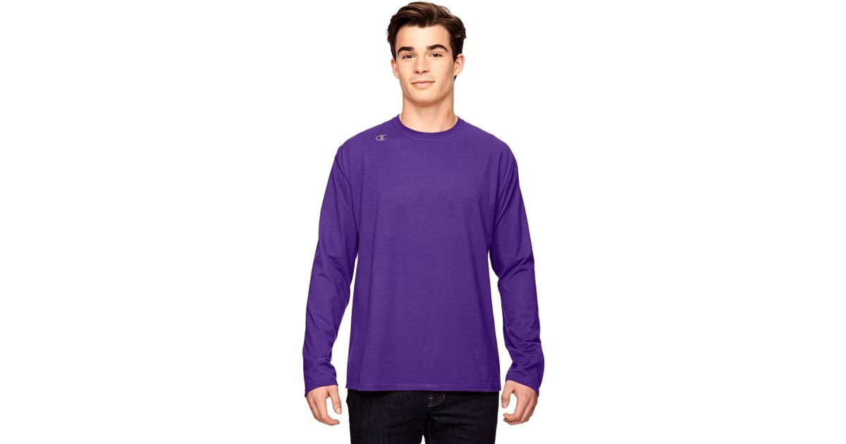 42d44552 Lyst - Champion T390 T Shirt Vapor Cotton Long-sleeve T-shirt New Sport  Purple M in Purple for Men