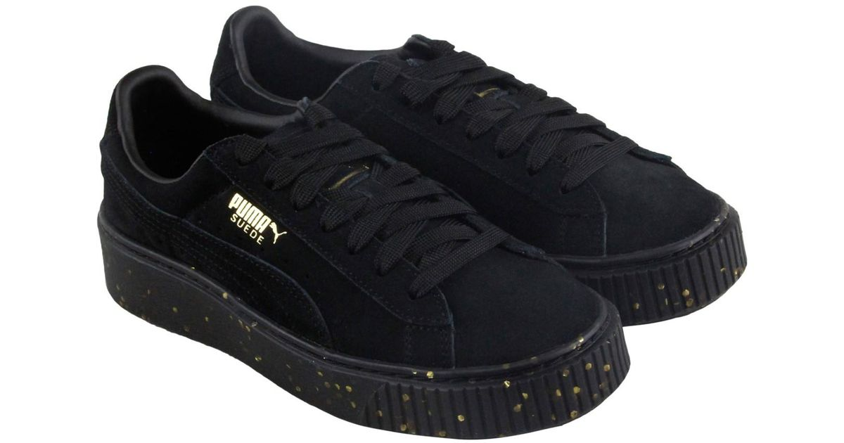 5f26fdcac58336 Lyst - PUMA Platform Bboy Fab Team Gold Lace Up Sneakers in Black for Men