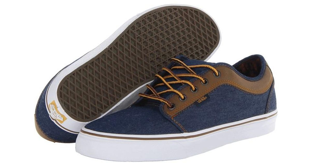 Vans Multicolor Mens Chukka Low Leather Sneakers Denimbrown 6.5 for Men Lyst