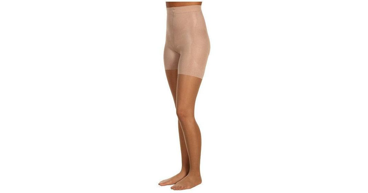 Lyst Spanx Booty Full Sheer Ample Bottom Slimming Pantyhose 353 In Natural