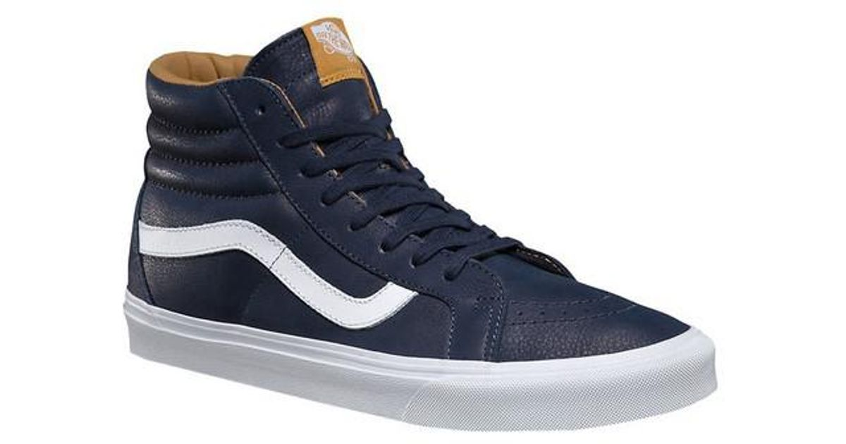 c3874e1495 Vans - Blue Unisex Premium Leather Sk8-hi Reissue High Top for Men - Lyst