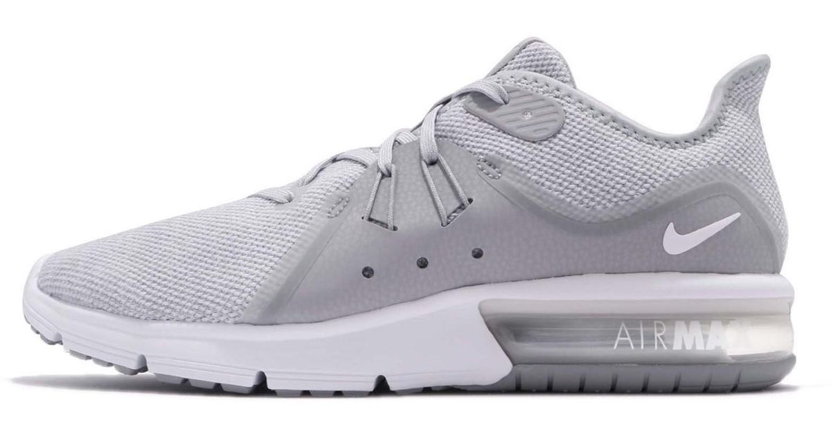 fbce41e29c Lyst - Nike 921694-003: Air Max Sequent 3 Wolf Grey/white Running Sneaker  in Gray for Men