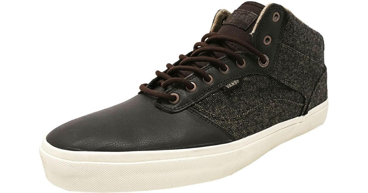 07862fc31776f Vans - Bedford Tweed Brown / Turtle Dove Mid-top Fabric Skateboarding Shoe  for Men - Lyst