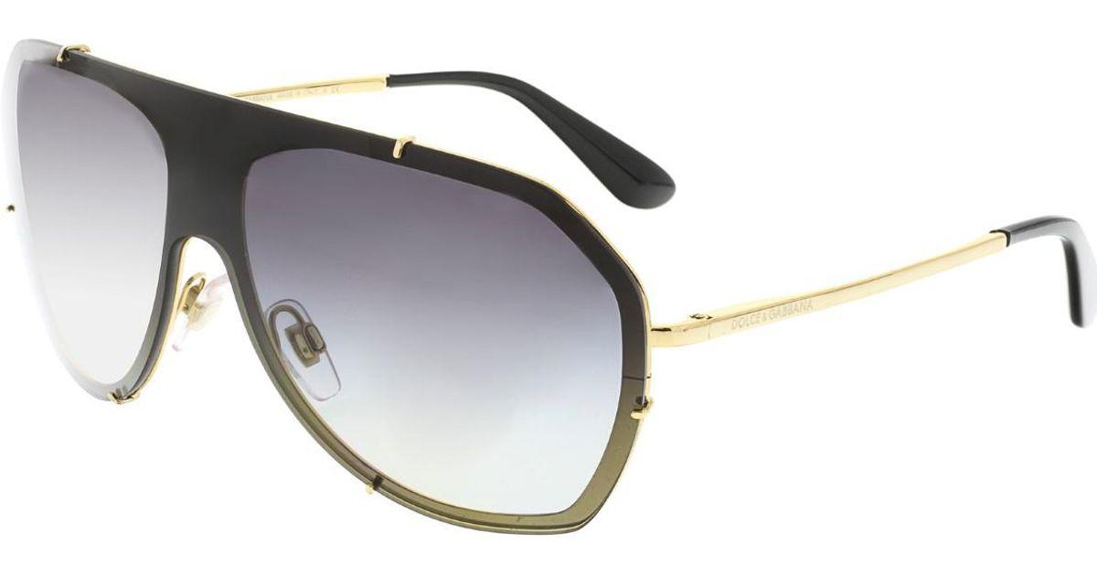 98c8c9dde383 Lyst - Dolce   Gabbana Dolce And Gabbana Gradient Dg2162-02 8g-37 Black  Rimless Sunglasses in Metallic