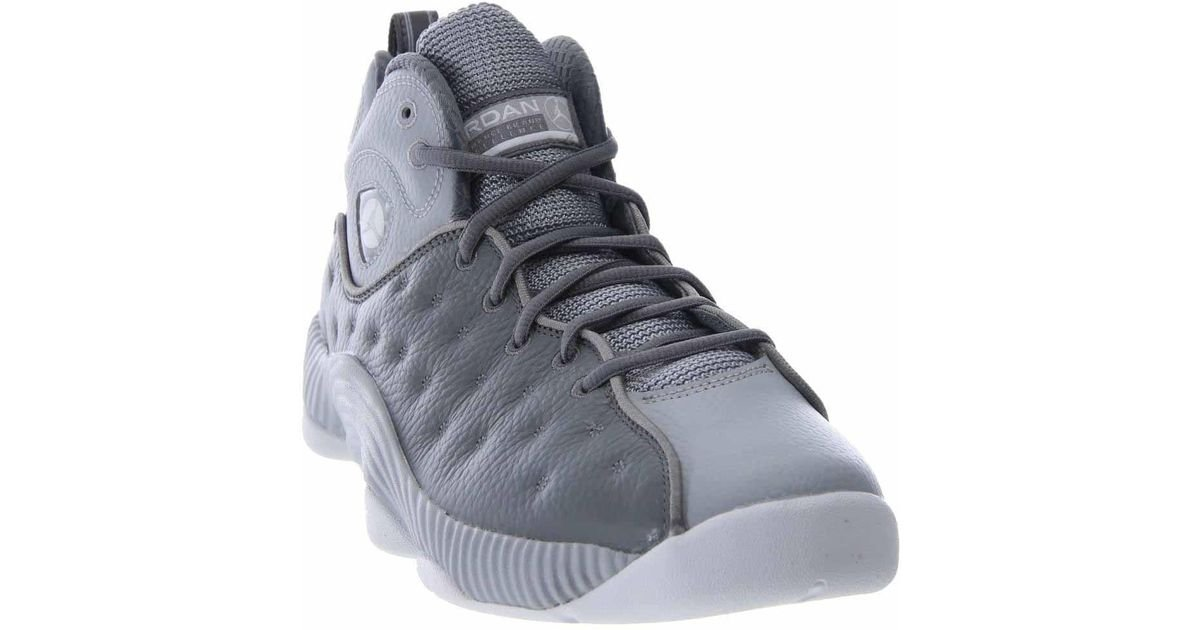 best sneakers 7946c 1156b ... get lyst nike jordan jumpman team ii high top leather basketball shoe  10m in gray for