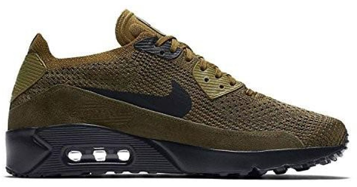 173d26381bb Lyst - Nike Air Max 90 Ultra 2.0 Flyknit Olive 875943-302 in Green for Men