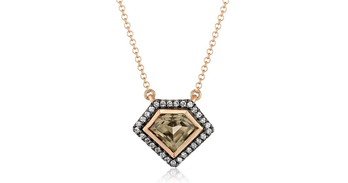 Lyst julie lamb metropolis rose gold power pendant in metallic mozeypictures Image collections