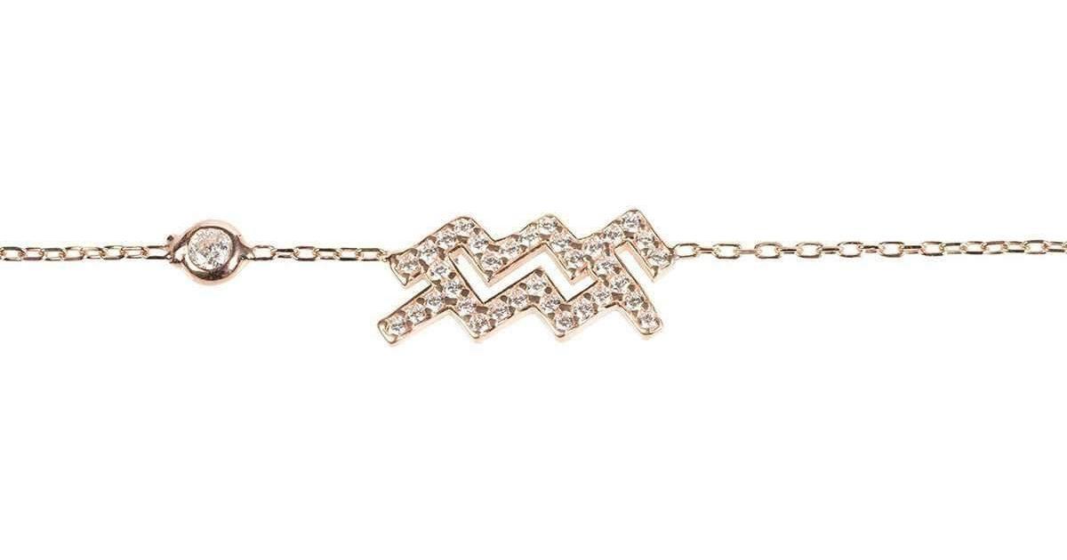 Latelita London Aquarius Zodiac Bracelet Gold MjgFB90bn