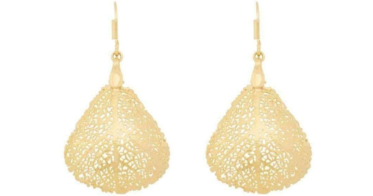 Amazona Secrets 18kt Gold & Quartz Savannah Leaf Necklace 6rcOWuWf
