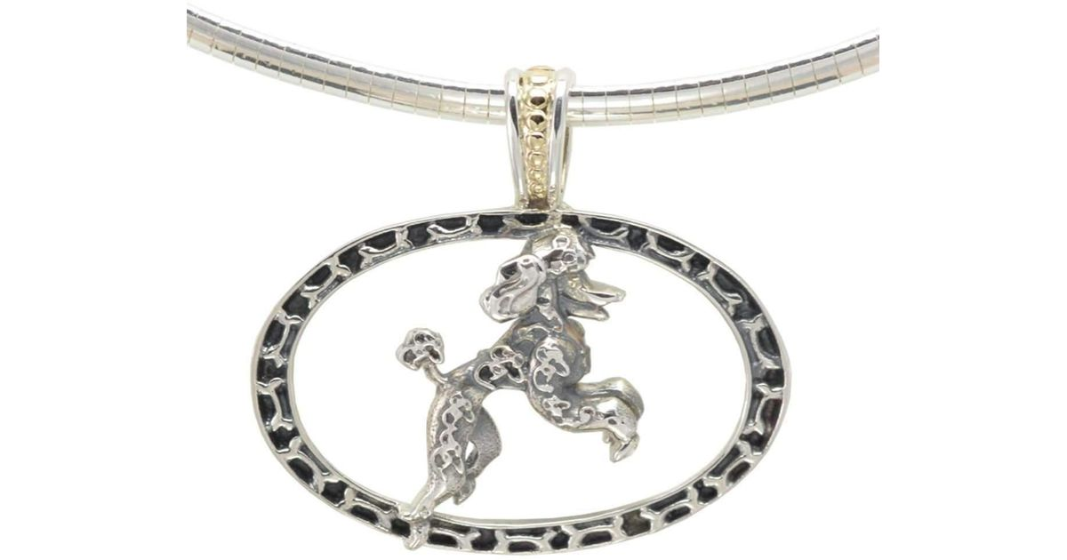 Donna Pizarro Designs Sterling Poodle Necklace With 14kt Accent wXlkwM