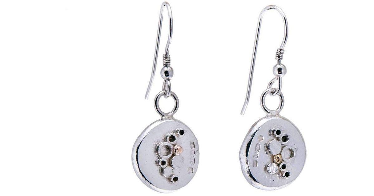 Lyst Hannah Silversmith Geode Crystal Earrings In 18kt Gold Metallic