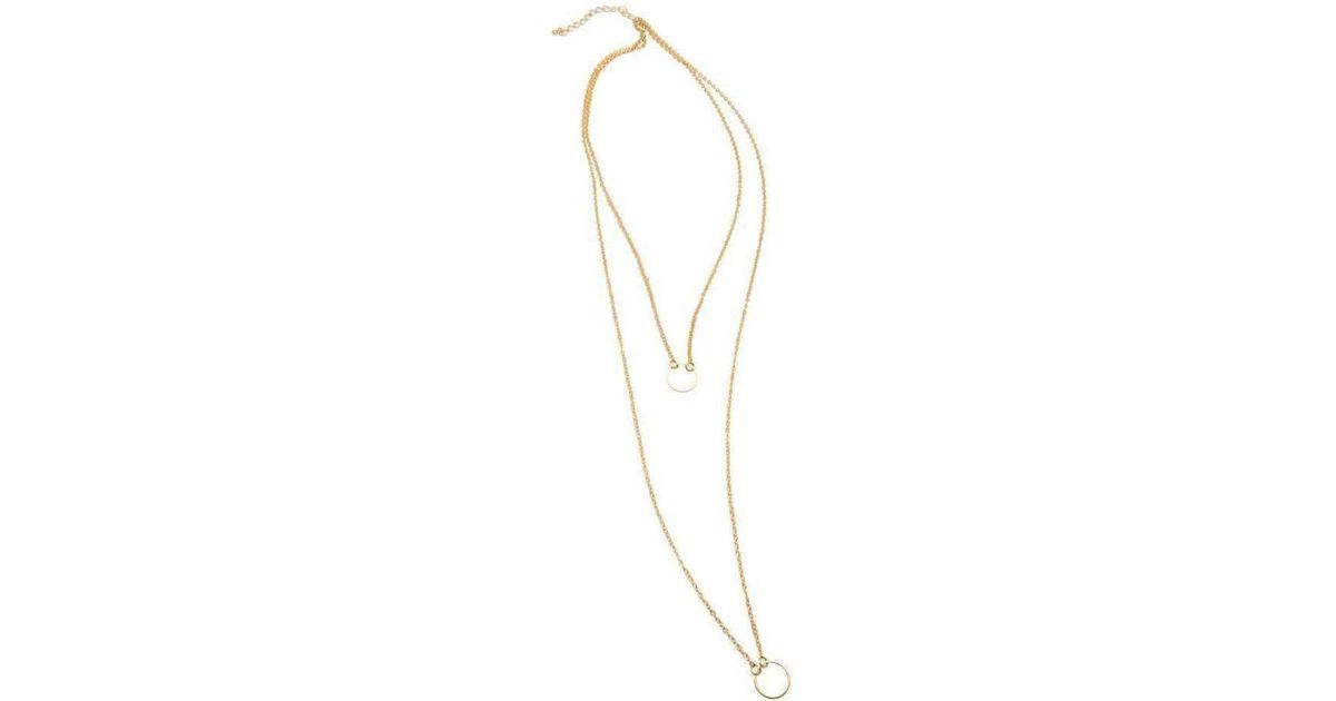 Nialaya Skyfall Gold Loop Necklace 7CXlZ6